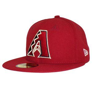 Arizona Diamondbacks Logo Eyelets Fitted Hat